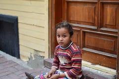 Niños del refugiado en la Turquía foto de archivo