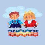 Niños del viaje Imagen de archivo libre de regalías