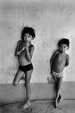 Niños descuidados de la muchacha Fotografía de archivo