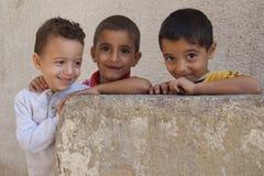 Niños desplazados del refugiado de Iraq Imagen de archivo