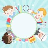 Niños diversos de la historieta stock de ilustración