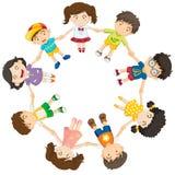 Niños diversos en un círculo Imágenes de archivo libres de regalías