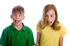 Niños divertidos fotos de archivo libres de regalías