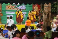 Niños durante la celebración del día de los niños Imágenes de archivo libres de regalías