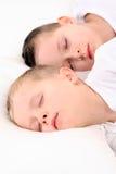 Niños durmientes Fotos de archivo
