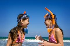 Niños el vacaciones de la playa Foto de archivo libre de regalías