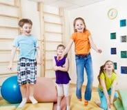 Niños emocionados Imágenes de archivo libres de regalías
