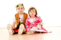 Niños en alineada de lujo Foto de archivo libre de regalías
