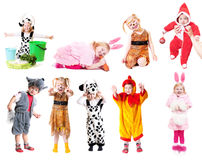 Niños en alineada de lujo Imágenes de archivo libres de regalías