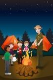 Niños en campamento de verano ilustración del vector