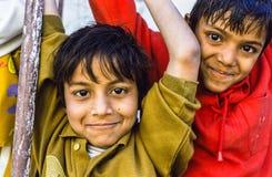 Niños en Delhi, la India Foto de archivo libre de regalías