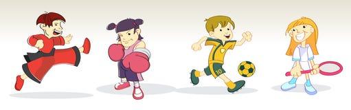 Niños en deporte stock de ilustración