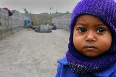 Niños en el Brick-field Imagen de archivo libre de regalías