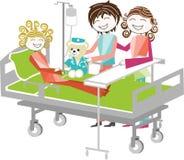 Niños en el hospital Imágenes de archivo libres de regalías
