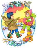 Niños en el invierno