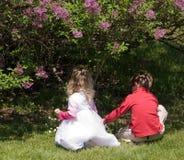 Niños en el juego Imagen de archivo