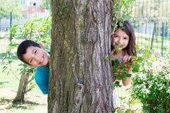 Niños en el parque Imagen de archivo libre de regalías