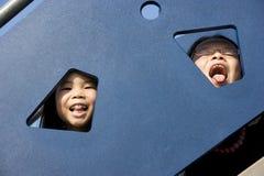 Niños en el patio Foto de archivo libre de regalías