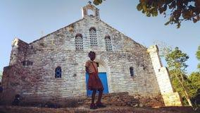 Niños en Haití fotografía de archivo