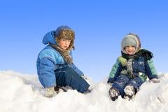 Niños en invierno Foto de archivo libre de regalías