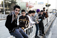 Niños en Iraq que celebran Año Nuevo imagen de archivo libre de regalías