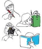 Niños en la acción imagen de archivo