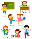 Niños en la escuela libre illustration