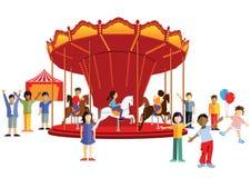 Niños en la feria stock de ilustración