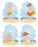Niños en la playa Foto de archivo libre de regalías