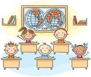Niños en la sala de clase stock de ilustración