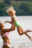 Niños en las series del verano Fotografía de archivo libre de regalías