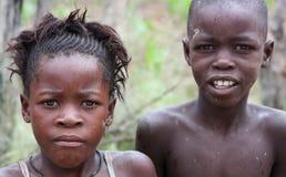 Niños en Namibia, África Imagenes de archivo