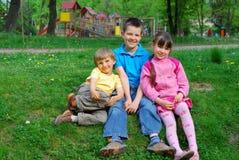 niños en parque Fotografía de archivo