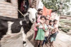 Niños en pueblo rural en la India Foto de archivo libre de regalías