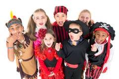 Niños en trajes Fotos de archivo libres de regalías