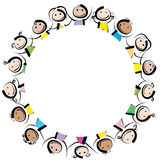 Niños en un círculo Foto de archivo libre de regalías