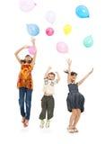 Niños en un partido Fotografía de archivo