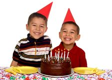 Niños en una fiesta de cumpleaños Fotografía de archivo
