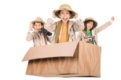 Niños en una impulsión del juego Imagen de archivo libre de regalías