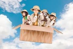 Niños en una impulsión del juego Fotos de archivo libres de regalías
