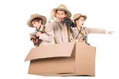 Niños en una impulsión del juego fotografía de archivo libre de regalías