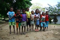 Niños en Vanuatu fotos de archivo