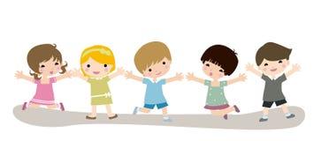 Niños felices stock de ilustración