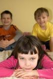niños felices   Imagen de archivo