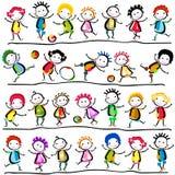 Niños felices ilustración del vector