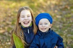 Niños felices de la forma de vida Foto de archivo libre de regalías