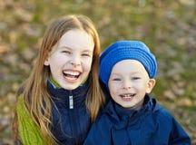 Niños felices de la forma de vida Fotografía de archivo libre de regalías