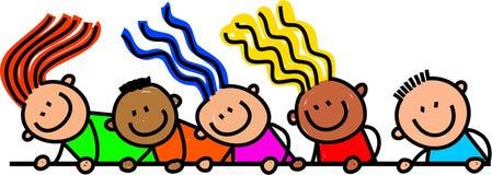 Niños felices de la frontera de la página