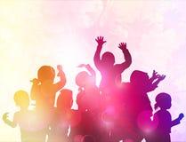 Niños felices del baile Imagen de archivo libre de regalías