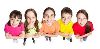 Niños felices del grupo Imagen de archivo libre de regalías